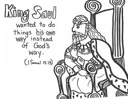 King Saul Refuse Gods Way Coloring Page