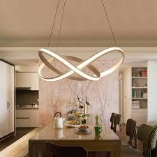 new modern spiral led pendant lights for living room dining