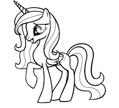 Twilight Sparkle Alicorn Coloring Pages My Little Pony Princess Ght Friendship Is Magic