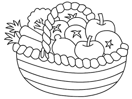 Coloring Page Of Fruit Basket