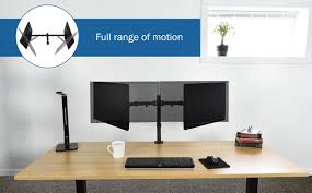 Monitor Stands For Desk by Stand V002 Dual Monitor Desk Mount U2013 Vivous