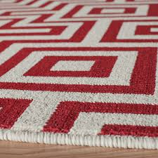 Maze Indoor Outdoor Rug Red 2 3