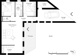 plan maison plain pied 2 chambres plan de maison 3 chambres plain pied 3 plan maison plain pied