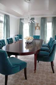 Teal Dining Chairs Blue Room Peacock