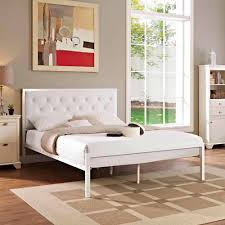 Platform Bed Frames by Modway Mia Queen Leatherette Platform Bed Multiple Colors