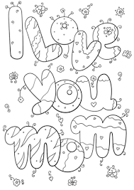 Click To See Printable Version Of I Love You Mom Coloring Page