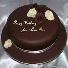 Best 1 Website for name birthday cakes Write your name on Rose Chocolate Birthday
