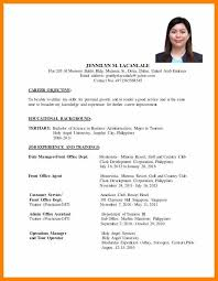 Resume Objectives For Hrm Ojt Students Beautiful Sample