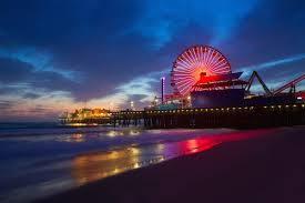 Santa Monica Beach California Sunset