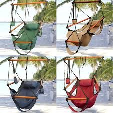 Hammock Hanging Chair Air Deluxe Sky Swing Outdoor Chair Solid
