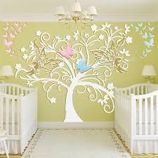 sticker chambre bébé stickers chambre bébé arbre et fées un sticker mural exceptionnel
