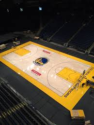 Champions Of Sport Connor Sports Installs The Golden State Warriors New Basketball Court