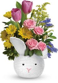 Order Telefloras Cuddle Bunny Bouquet From Countryside Flower Shop Your Local Crystal Lake Florist