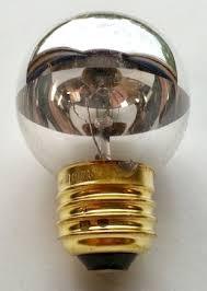 g16 half chrome medium base globe light bulbs g16 half mirror