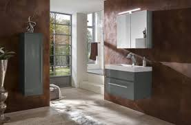 3tlg badezimmer set spiegelschrank grau 80 cm lunar