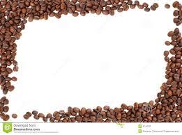 Frame Of Coffee Beans On White Stock Photo