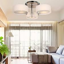 loco acrylic chandelier with 3 lights chrome finish flush mount