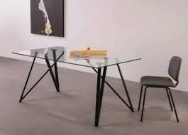 esstisch glas 160x90 schwarze metallfüße glastisch