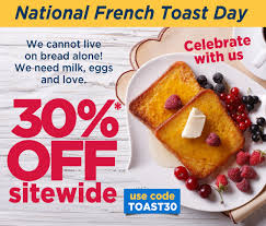 French Toast: 😃 It's National French Toast Day!   Milled Sonic Deal 099 French Toast Sticks Details Bread Stamper Boys Mesh Pullover Top Crunch Cereal 111 Oz Box School Uniforms Starting At Just 899 Costco Hip2save Homemade Casserole The Budget Diet Frenchs Coupons 2018 Black Friday Deals Uk Game Toast Clothing Brand Wwwcarrentalscom Maple Breakfast Cinnamon 2475 2count Uniform Pants Bark Shop