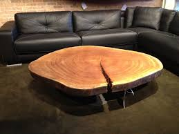 200 year old sapele tree cross section made into a coffee table