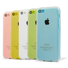 Frosted Gel Apple iPhone 5C Case Clear