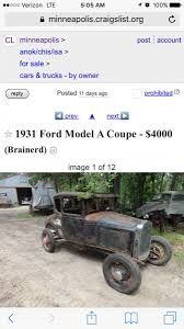 100 Minneapolis Craigslist Cars And Trucks Projects Cost Of A Model A Ford The HAMB