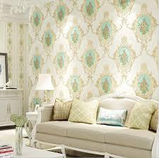großhandel moderne pastoralen blumendamast vinyl tapete rolle schlafzimmer wohnzimmer tapeten vlies wandverkleidung innenausgangsdekor isaaco