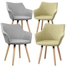details zu b ware esszimmerstühle 2er set tomke retro stoffbezug armlehnen