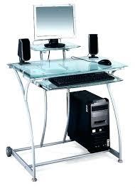 bureau ordinateur en verre table d ordinateur en verre incroyable bureau ordinateur design