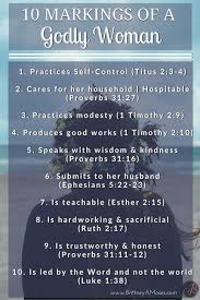 10 Markings Of A Godly Woman