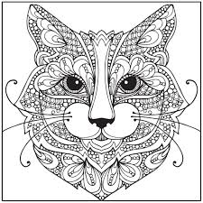Cute Cat Relaxing Coloring Pages