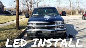 100 88 Chevy Truck OBS LED Light Install Part 1 98 YouTube