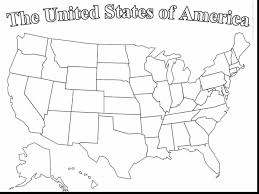 Map Of The Usa Coloring Pages Hellokidscom America New Us Page