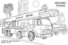 Camion De Pompier 30 Transport Coloriages À Imprimer Pour