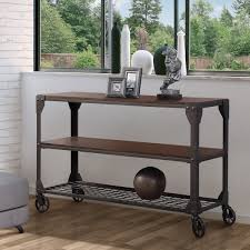 Furniture of America Karina Industrial Style Sofa Table Free