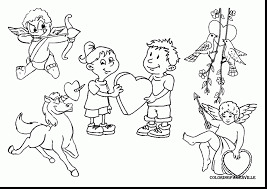 Fabulous Christian Valentine Coloring Pages With For Valentines Day