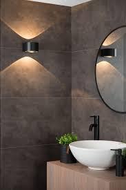 lucide rayen wall spotlight bathroom led 1x12w 3000k