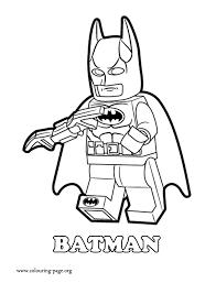 Batman A Lego Superhero Coloring Page