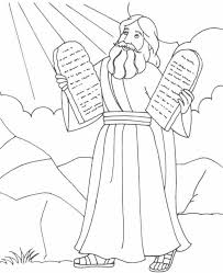Moses Holding The Stone Tablets Of 10 Commandments Exodus 20 Deuteronomy 5