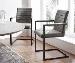 esszimmerstuhl earnest quersteppung grau vintage gestell metall schwarz freischwinger moderne einrichtungsideen günstig bei möbel modern