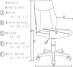 Chair Seat Height Standard Dining Room Desk Office