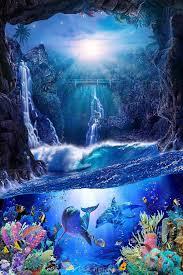 100 Christian Lassen Secret Grotto Dolphin Art Beautiful Fantasy Art Wyland Art