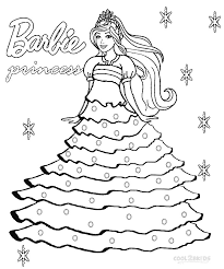 Bunch Ideas Of Barbie Princess Coloring Pages On Free