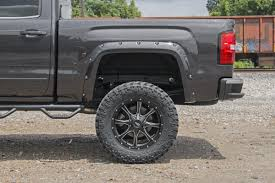 100 Wheel Flares For Trucks Rough Country Pocket Fender WRivets For 20142015 GMC Sierra