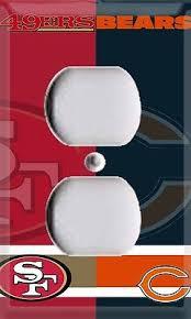 Football San Francisco 49ers Chicago Bears Single Outlet Cover Room Decor