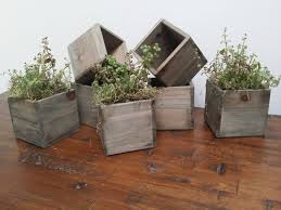 Reclaimed Wooden Planter Boxes