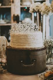 White Bridal Shower Cake On A Vintage Hat Box An Antiques And Ivory Rustic
