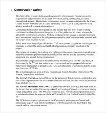 Construction Safety Plan Template Make Photo Gallery