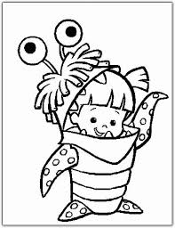 Monster Inc Coloring Pages Kids 17209