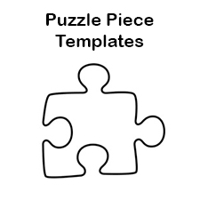 Blank Puzzle Piece Template